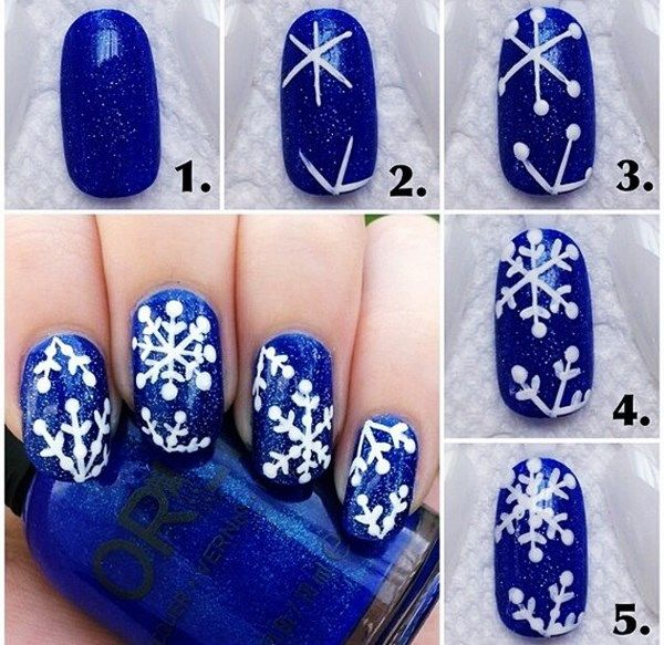 Schneeflocken-Nageldesign-Ideen-Tutorial