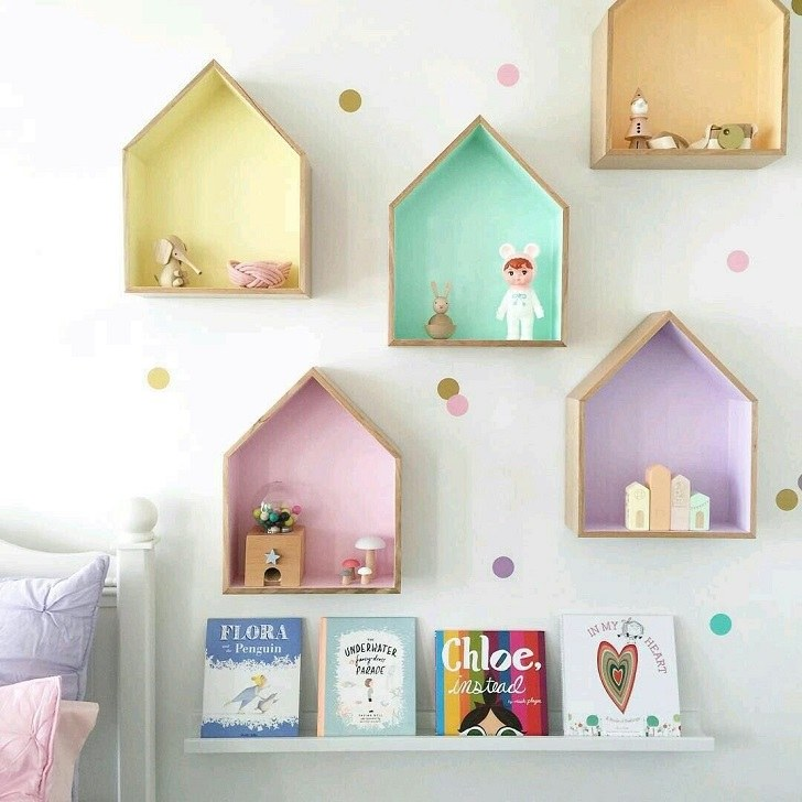 Originelle Regaldesign-Ideen Kinderzimmer-Deko-Tipps