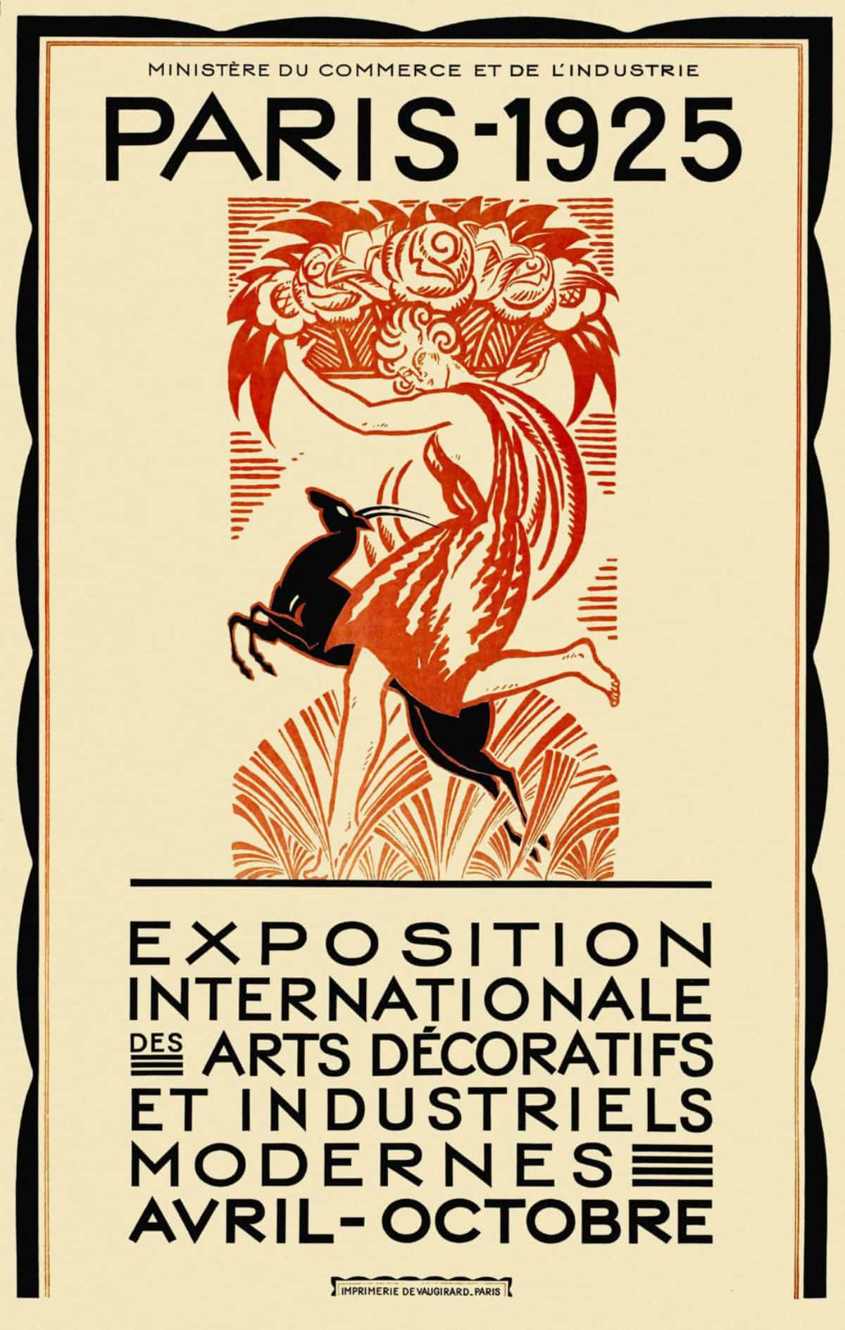 1925 Pariser Ausstellung Internationale des Arts Decoratifs et Industriels Modernes