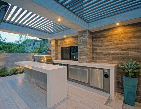 Luxus-Patio-Dachideen aus Metall und Beton