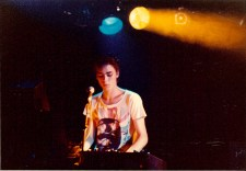 Andrew Duffield playing keyboards - 1980s