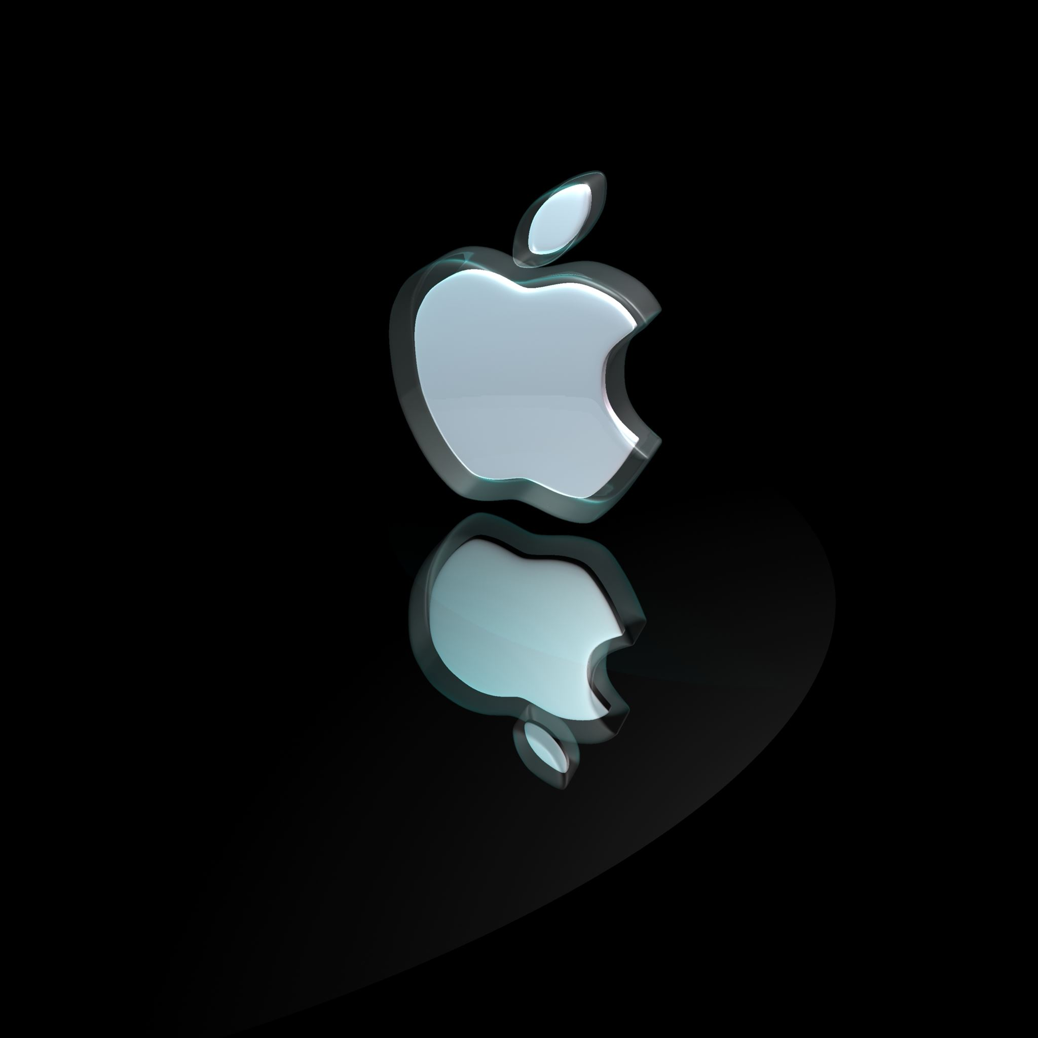 3d apple logo ipad