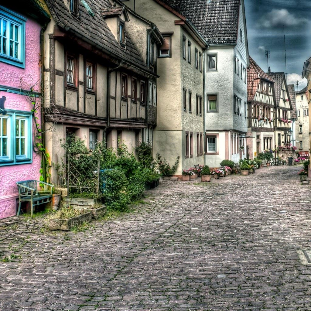 Iphone 8 X Wallpaper Old Town Street Landscape Ipad Wallpapers Free Download