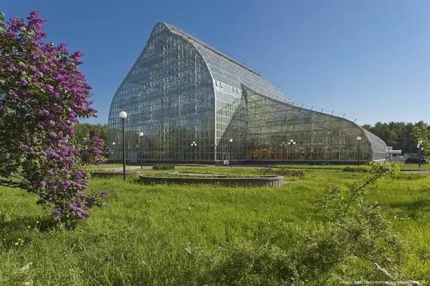 یکی از گلخانه های نسبتا جدید باغ گیاه شناسی.
