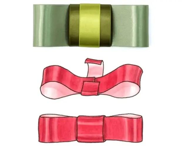 ギフトのためにシックな弓を結ぶことを学ぶこと