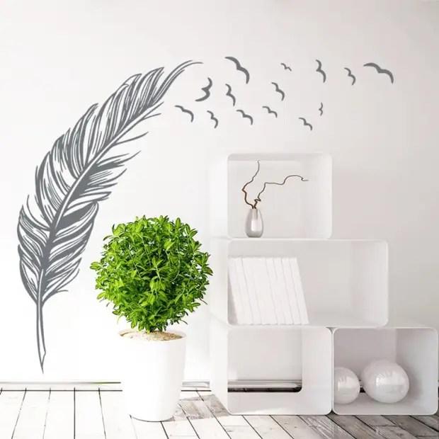 Desenhos de estêncil e adesivos interiores - maneira fácil de decorar a parede