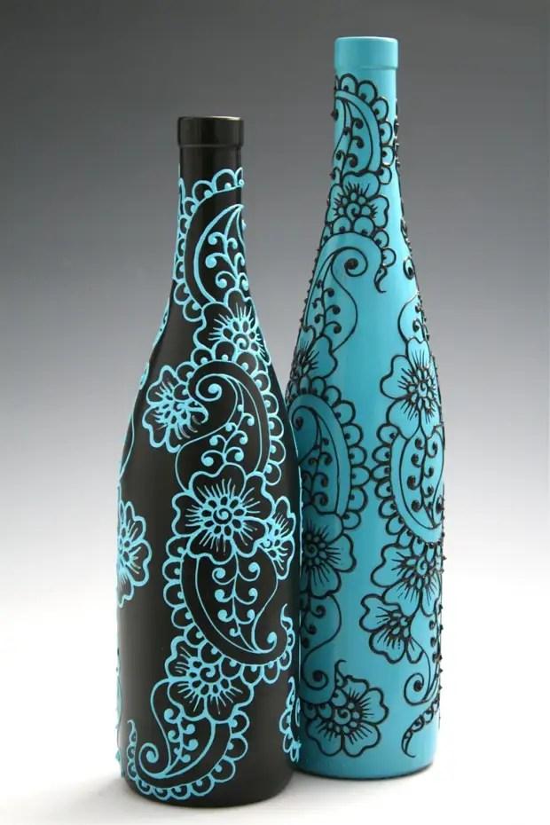 Corak botol yang indah