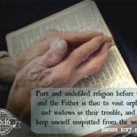 Scripture Sunday: James 1:27