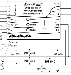 four wire delta circuits continental control systems llc wye delta connection diagram 480 delta wiring diagram [ 1200 x 698 Pixel ]