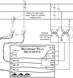 using potential transformers continental control systems llc six wire wye delta connection diagram figure 3 [ 1760 x 1240 Pixel ]
