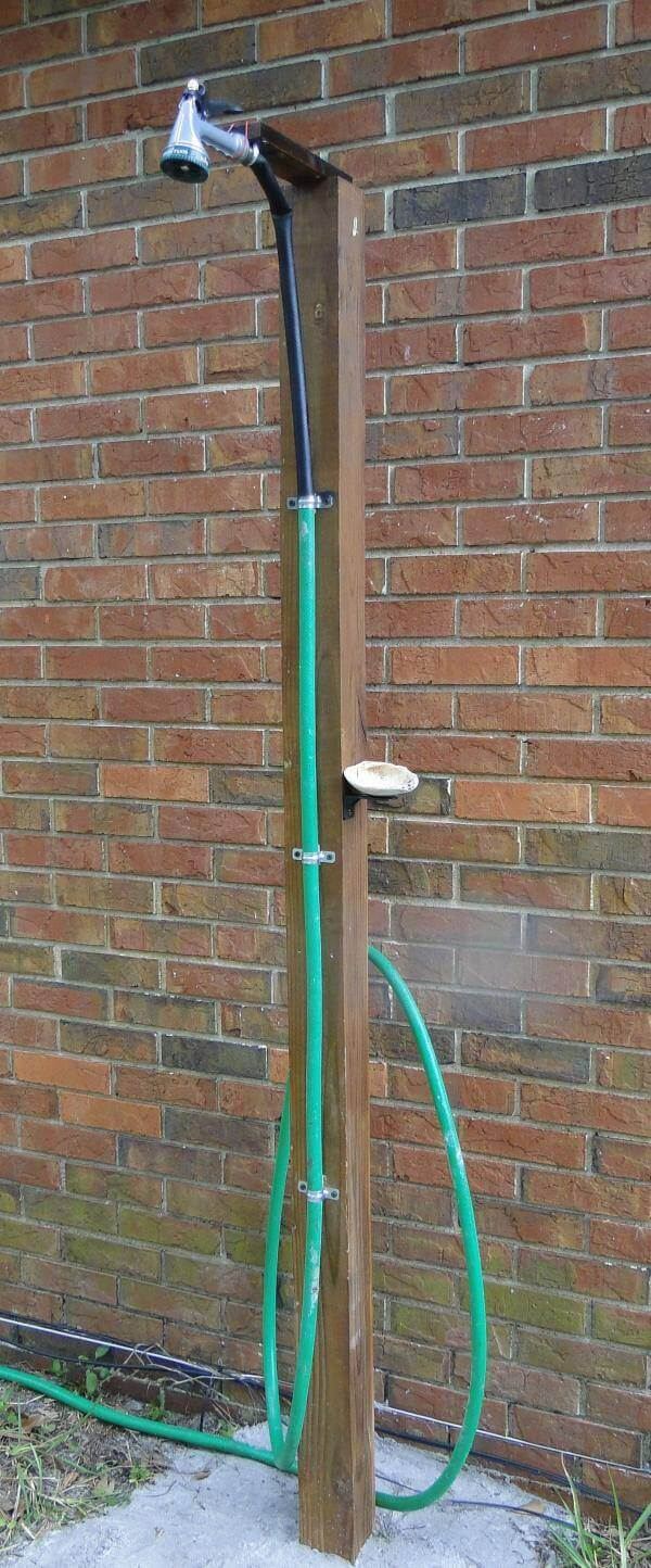 How To Make An Outdoor Shower Using A Simple Garden Hose
