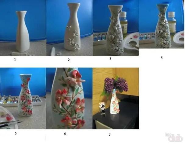 A primeira maneira de decorar uma argila de polímero de vaso