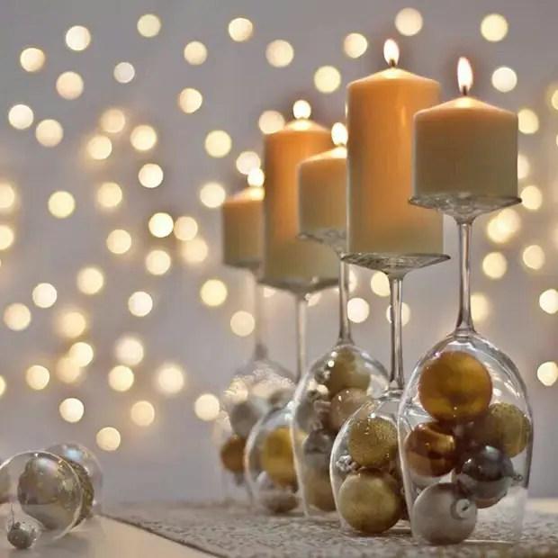 Le verre peut être rempli avec un total de tout décor adapté au sujet de la soirée.