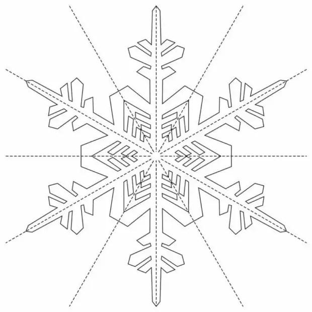 Объемные снежинки из бумаги на Новый год 2020-2021: простые и красивые! Шаблоны и схемы для вырезания