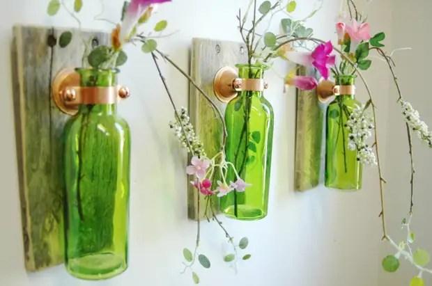 Botol sebagai hiasan dinding