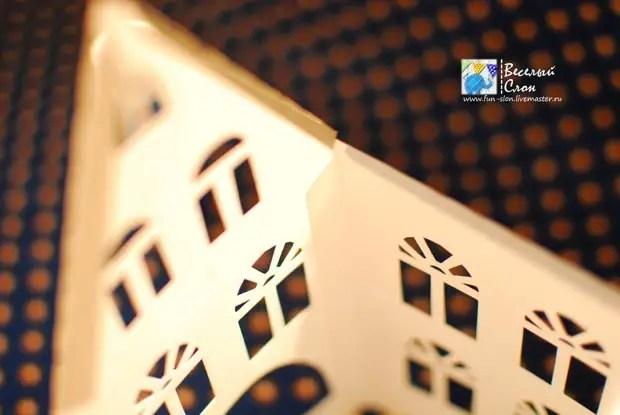 Vytvořit magický nový rok město z papíru