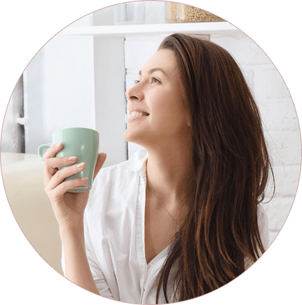 Women with a cup of coffee