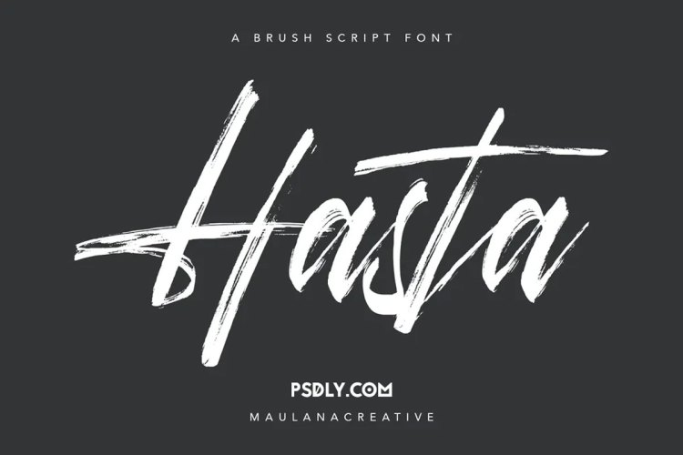 Download Hasta Brush Script Font !-r2r free download - r2rdownload