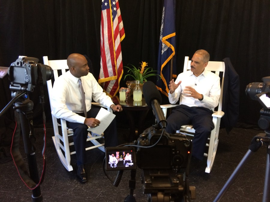 Eric Holder, chair chats, democratic party, democrat, jaime harrison, marketing, documentary, video production, r2rpro, r2r, reel2real, reel2reel, real2real, reel to reel, sizzle reel, tv show, web series, web show, hosting directing, producing, editing, camera, filming, filmmaker, videographer