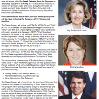 The Texas Debates: The Race for Governor on January 14th