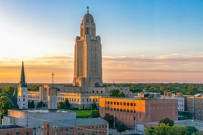 The Nebraska State Capitol in Lincoln