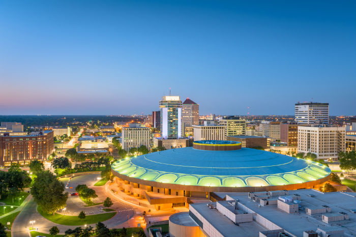 Skyline view of downtown Wichita, KS