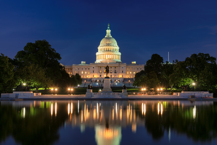 View of the US Capitol building in Washington DC