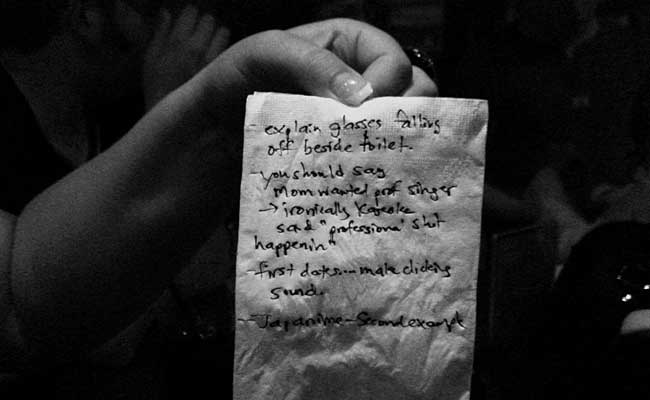 Notes from Allyson Smith's performance at Broken City on 2009-06-26 - Photo by Gordon McDowell