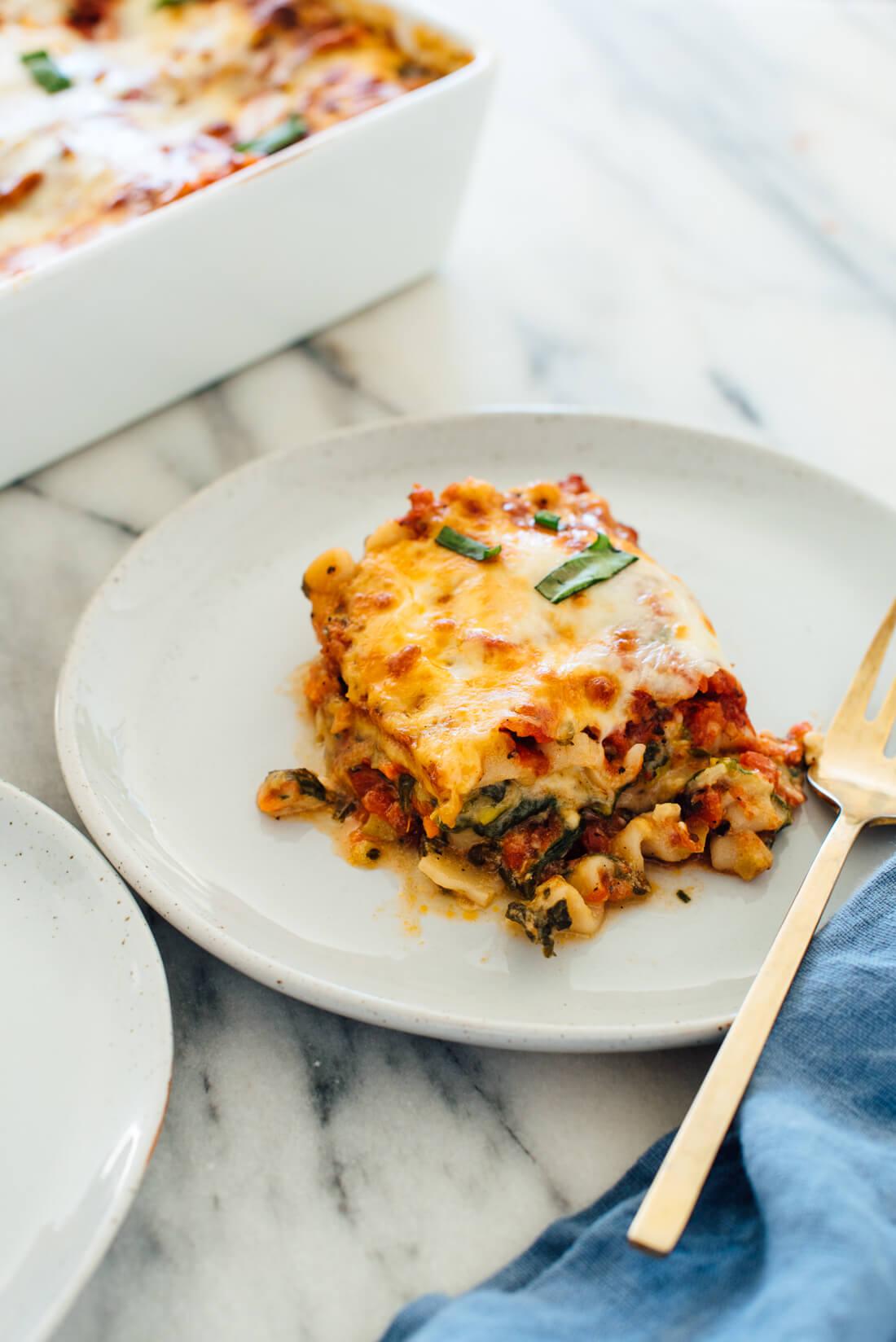 Picture Perfect Vegetable Lasagna Recipe  Easy  Fast Recipes