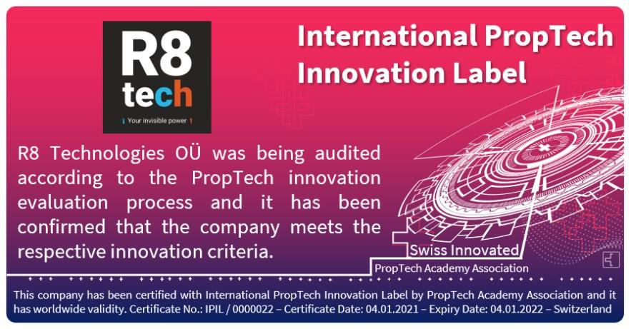 Proptech<br>Innovation<br>Label
