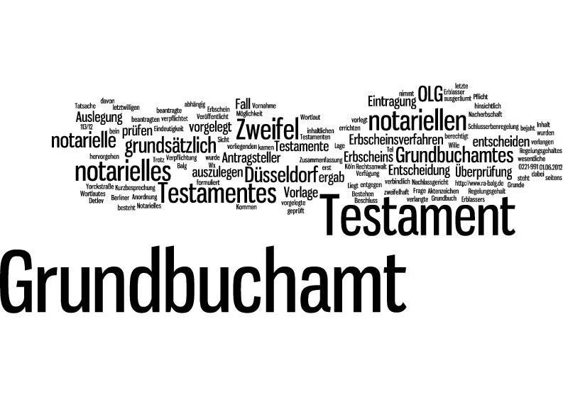 Erbrecht - Pflichtteil |Notarielles Testament Grundbuchamt Auslegung