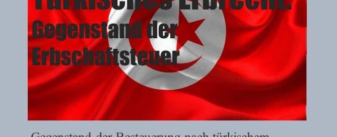 Gegenstand der Erbschaftsteuer nach türkischem Erbschaftsteuerrecht - Befreiungstatbestände