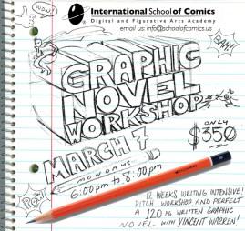 Illustration and design by me for Vincent Warren's workshop at ISC