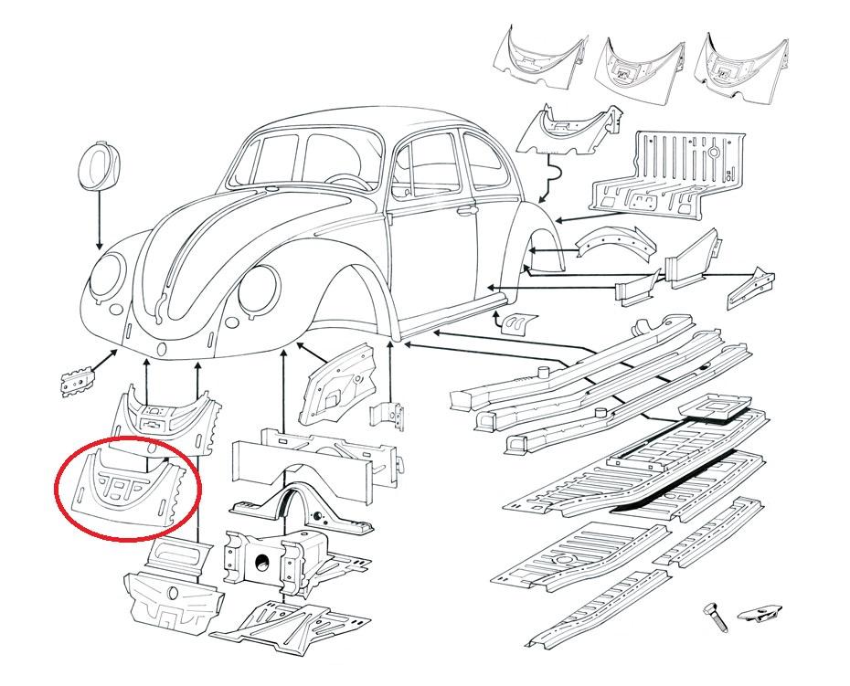 Käfer; Rep.-Blech; Reparaturblech; Blech; Schweissblech