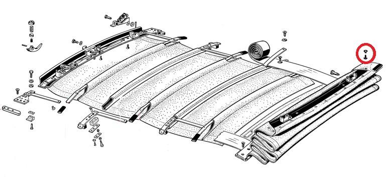 0385-470; Käfer; Nieten; Verdeckbezug; Bezug; Verdeck