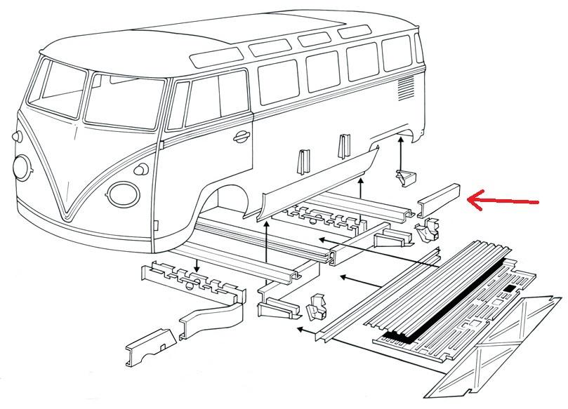 0890-70L; Bus; Bulli; T1; Rep.-Blech; Reparaturblech