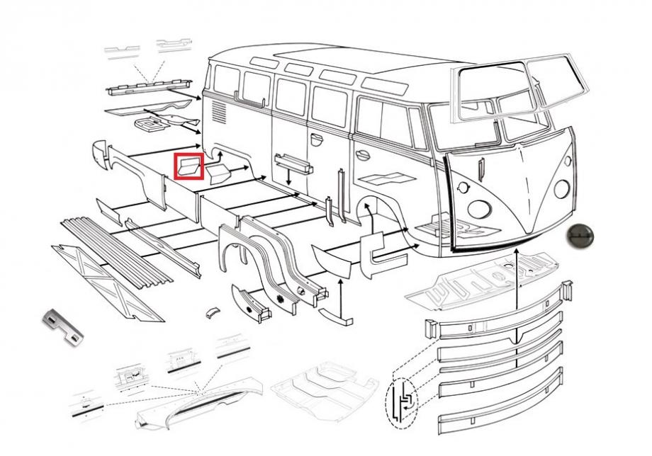 0890-56; Rep.-Blech; Reparatur; Reparaturblech; T1; Bus
