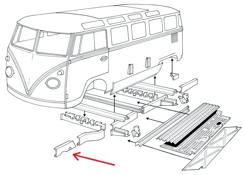 0890-65; Bus; Bulli; T1; Rep.-Blech; Reparaturblech