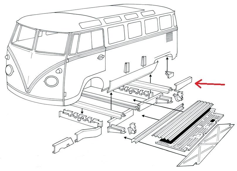 0890-70R; Bus; Bulli; T1; Rep.-Blech; Reparaturblech