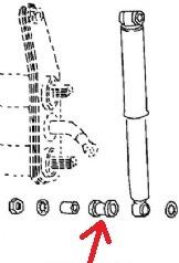 -459; Käfer; Bus; Bulli; T1; T2; Gummibuchse; Stoßdämpfer