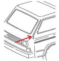 -144; Bus; Bulli; T3; Typ25; Transporter; Zierleiste; A