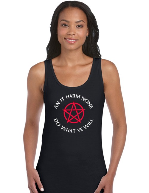 an it harm none ladies pagan vest top