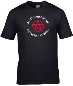 an it harm none men's pagan shirt