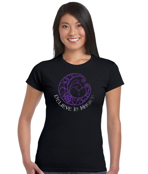 believe in magick ladies pagan shirt