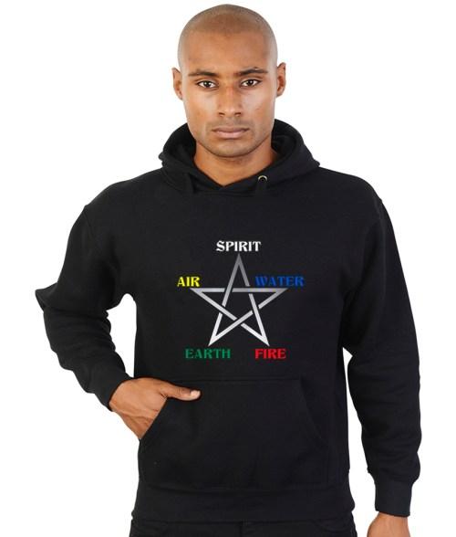 elemental pentagram pagan hoodie