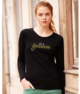 i'm a goddess ladies pagan shirt