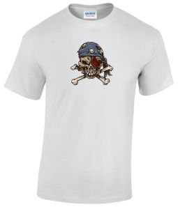 Pirate Skull with Bandana tattoo style shirt