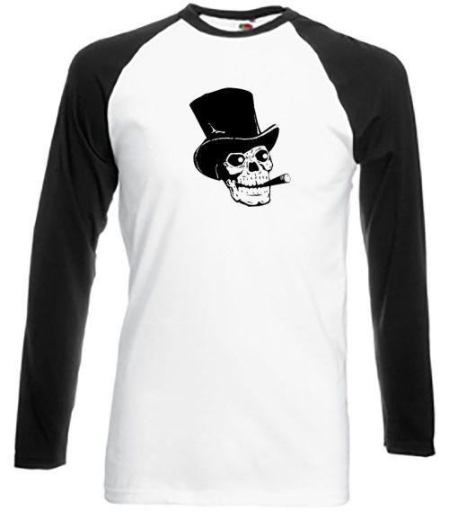 skull wearing a top hat shirt
