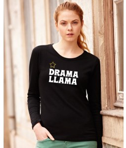 drama llama ladies funny top