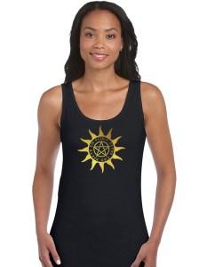 pagan sun with pentacle shirt